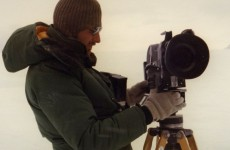 Ivars filming in Antarctica 1980